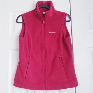 Columbia zip-up Fuschia Vest